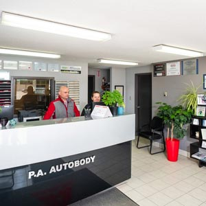 Auto Body Front Counter